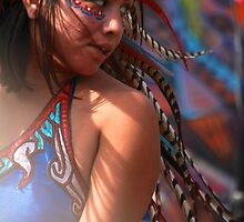 Aztec Dancer in the Light by Barbara  Brown