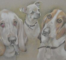 Frieda, Ritz and Hector by singer-painter