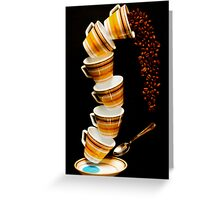 Tumbling Cups Greeting Card