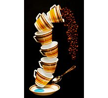 Tumbling Cups Photographic Print