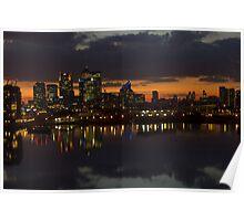 London Docklands Sunset Poster