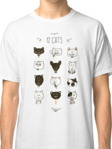 Set of cats heads. Classic T-Shirt