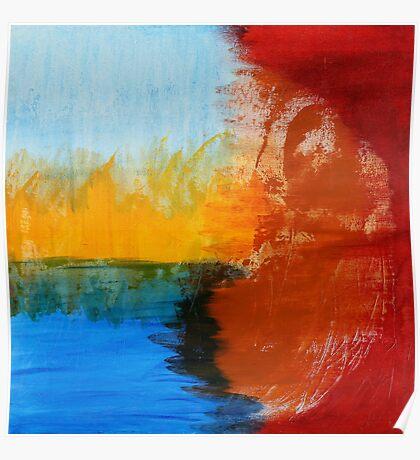 earth. air. fire. water. buddha. Poster