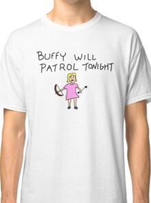 Buffy Will Patrol Tonight Colour Classic T-Shirt