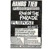 hands tied floor punch rain on the parade show flyer Photographic Print