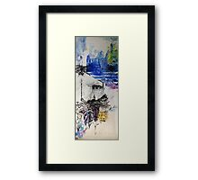 Built on stars, paint on canvas, 2015, Christine Hill  Framed Print