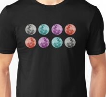 COLOURED MOONS Unisex T-Shirt