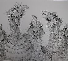 Chooks in a Row by Sally Ford