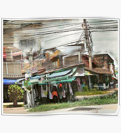 Corner shop, Chiang Mai,Thailand Poster