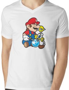 Super Stoned Mario Mens V-Neck T-Shirt