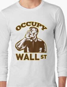 Occupy Wall Street American Worker Long Sleeve T-Shirt