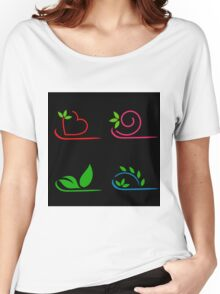 Floral artwork Women's Relaxed Fit T-Shirt