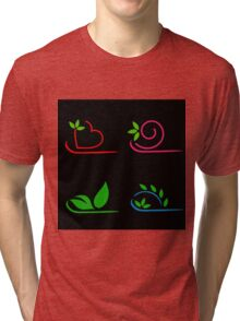 Floral artwork Tri-blend T-Shirt