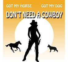 COWGIRL POWER Photographic Print