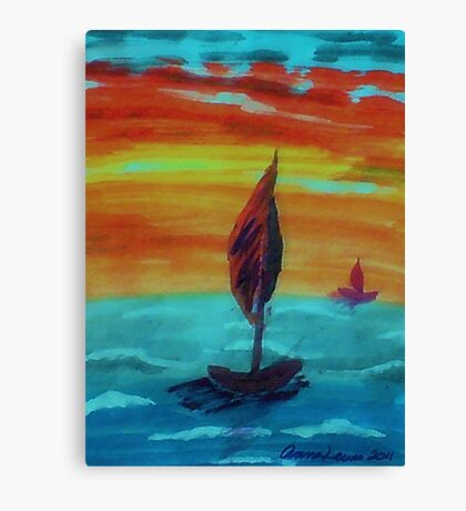 I wanna be here!! watercolor Canvas Print