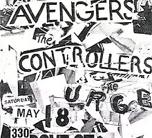 the avengers the controllers the urge show flyer by OUTERHEAVEN19XX