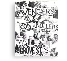 the avengers the controllers the urge show flyer Metal Print