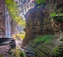 Light Infused Waterfall at Watkins Glen by PhotoByTrace