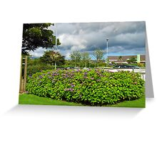 Summer Storm gathering over Stornoway Greeting Card