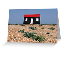 Beach Hut with a Red Roof Greeting Card