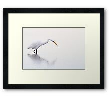 Stalking Egret Framed Print