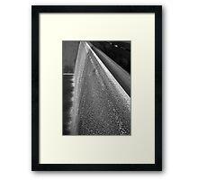 Memorial Falls B&W Framed Print
