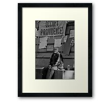 Occupy Providence Framed Print