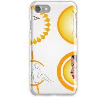 Women tanning their skin iPhone Case/Skin