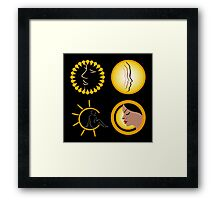 Sun tan graphic  Framed Print