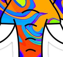 Colorful Elephant Sticker