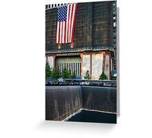 Memorial Flag and Falls Greeting Card