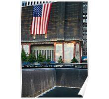 Memorial Flag and Falls Poster