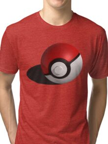 3D Style Pokemon Pokeball Tri-blend T-Shirt