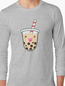 Kawaii Boba Milk Tea (Tapioca Bubble Tea) Long Sleeve T-Shirt