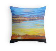 Indian Ocean Sunset Throw Pillow