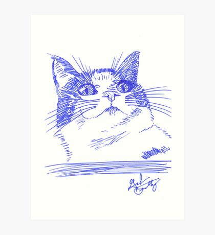 Chester the Cat Art Print