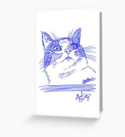 Chester the Cat Greeting Card