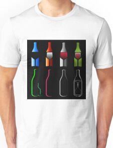 Bottles and glasses- spirits  Unisex T-Shirt