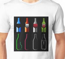 Bottles and glasses- spirits  Unisex T-Shirt