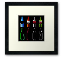 Bottles and glasses- spirits  Framed Print