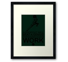 Rock Lee - A Dropout Will Beat A Genius Through Hard Work - Black Framed Print
