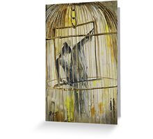 Caged Greeting Card
