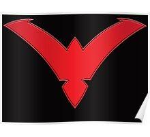 Nightwing Symbol (Red) Poster