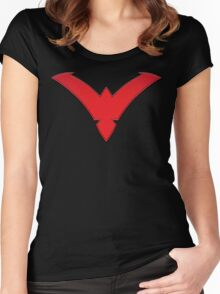 Nightwing Symbol (Red) Women's Fitted Scoop T-Shirt