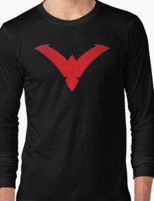 Nightwing Symbol (Red) Long Sleeve T-Shirt
