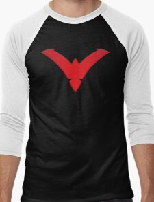 Nightwing Symbol (Red) Men's Baseball ¾ T-Shirt