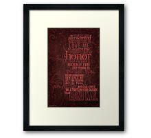 Avatar: The Last Airbender - Zuko's Speech Framed Print