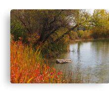 October Day on Sinton Pond (3) Canvas Print