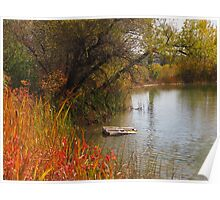 October Day on Sinton Pond (3) Poster