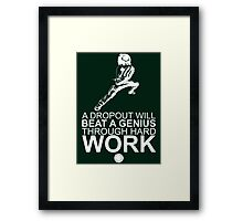 Rock Lee - A Dropout Will Beat A Genius Through Hard Work - White Framed Print